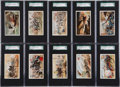 "Non-Sport Cards:Sets, 1887 N99 Duke/Gail & Ax ""Battle Scenes"" Complete Set (25). ..."