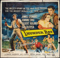 "Movie Posters:Adventure, Thunder Bay (Universal International, 1953). Six Sheet (81"" X 81"").Adventure.. ..."