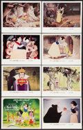 """Movie Posters:Animation, Snow White and the Seven Dwarfs Lot (Buena Vista, R-1967). Lobby Card Set of 8 and Lobby Cards (2) (11"""" X 14"""") and One Sheet... (Total: 11 Items)"""