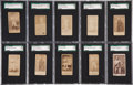Boxing Cards:General, 1880's Old Judge, Mayo & S.F. Hess Graded Boxing Collection (17). ...