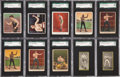 """Boxing Cards:General, 1910-Era Scarce """"T"""" and """"C"""" Series or Brand Boxing SGC-GradedCollection (30). ..."""