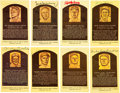 Autographs:Others, 1970's-2000's Baseball Hall of Famers Signed Gold Plaques Lot of 129....