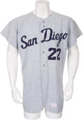 Baseball Collectibles:Uniforms, Mid-1960's San Diego Padres Game Worn PCL Jersey....