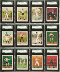 "Boxing Cards:General, 1910 T220 Mecca ""Champion Athlete and Prize Fighter Series"" WhiteBorder SGC-Graded Complete Set (50)...."