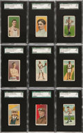 Boxing Cards:General, 1910 T229 Pet and Kopec Cigarettes SGC-Graded Collection (9)....