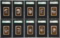 "Baseball Cards:Sets, 1963 Bazooka ""Baseball All-Time Greats"" Complete Set (41) - #1 on the SGC Set Registry!..."