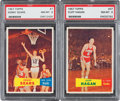Basketball Cards:Lots, 1957 Topps Basketball PSA NM-MT 8 Pair (2). ...