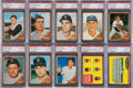 Baseball Cards:Lots, 1962 Topps Baseball PSA Graded NM-MT 8 High Numbers Collection(31). ...