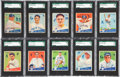Baseball Cards:Sets, 1934 Goudey Baseball SGC-Graded Partial Set (45/96). ...