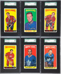 Hockey Cards:Lots, 1964-65 Topps Hockey SGC 92 NM/MT+ 8.5 Collection (6). ...