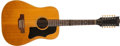 Musical Instruments:Acoustic Guitars, 1974 or '75 Gibson B-45-12 Natural Acoustic Guitar, #B007492....