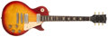 Musical Instruments:Electric Guitars, 1975 Gibson Les Paul Deluxe Cherry Sunburst Electric Guitar,#401483....