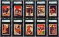 """Non-Sport Cards:Sets, 1935 R72 Schutter-Johnson """"I'm Going To Be"""" Complete Set (24) - #1on the SGC Set Registry! ..."""