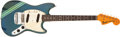 Musical Instruments:Electric Guitars, 1972 Fender Competition Mustang Lake Placid Blue Guitar, #366101....