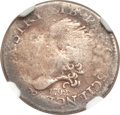Early Half Dimes, 1792 H10C Half Disme, Judd-7, Pollock-7, R.4--Plugged, Damaged--NGCDetails. VG....