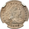 Early Half Dimes, 1796 H10C LIKERTY--Obverse Repaired--NGC Details. AU. V-1, LM-1,R.3....