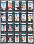 Baseball Cards:Sets, 1969 Topps Super Baseball Complete Set (66) With SGC 98 Gem MT 10Mantle - #1 on the SGC Set Registry!...