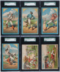 Baseball Cards:Sets, 1880's A&P Baking Powder and Cosack & Co. Sets Pair (2) - Both #1 on the SGC Set Registry!...