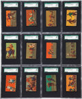 Football Cards:Sets, 1937 Mayfair Candy Football Complete Set (24) - #1 on the SGC Set Registry! ...