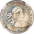 Early Half Dimes, 1797 H10C 13 Stars--Repaired--NGC Details. VF. V-1, LM-4, R.6....
