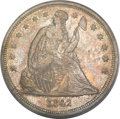 Seated Dollars, 1842 $1 MS61 PCGS....