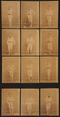 Baseball Collectibles:Photos, 1874 Philadelphia Athletics Original Team Portraits Lot of 12 withAnson, Reach....