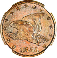 1855 P1C Flying Eagle Cent, Judd-168, Pollock-193, R.4--Improperly Cleaned--NGC Details. Proof....(PCGS# 11721)