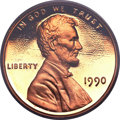 Proof Lincoln Cents, 1990 1C No S PR68 Red Deep Cameo PCGS. FS-101....