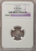 Early Half Dimes: , 1795 H10C --Plugged--NGC Details. VF. LM-10. NGC Census: (4/307).PCGS Population (29/388). Mintage: 78,600. Numismedia Wsl...