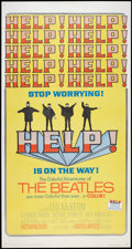 "Movie Posters:Rock and Roll, Help! (United Artists, 1965). Three Sheet (41"" X 81""). Rock andRoll.. ..."