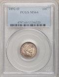 Barber Dimes: , 1892-O 10C MS64 PCGS. PCGS Population (52/23). NGC Census: (62/22).Mintage: 3,841,700. Numismedia Wsl. Price for problem f...