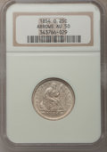 Seated Quarters: , 1854-O 25C Arrows AU50 NGC. NGC Census: (5/57). PCGS Population(2/47). Mintage: 1,484,000. Numismedia Wsl. Price for probl...