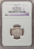 Early Dimes: , 1796 10C --Obv Scratched--NGC Details. Fair. JR-6. NGC Census:(1/198). PCGS Population (4/283). Mintage: 22,135. Numismedi...