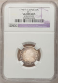 Early Dimes: , 1798/97 10C 16 Stars on Reverse--Scratches--NGC Details. VG. JR-1.NGC Census: (1/42). PCGS Population (3/53). Mintage: 27...