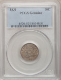 Bust Dimes, 1831 10C PCGS Genuine. The PCGS number ending in .92 suggestCleaning as the reason, or perhaps one of the reasons, that PC...