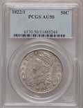Bust Half Dollars: , 1822/1 50C AU50 PCGS. PCGS Population (5/50). NGC Census: (6/27).Numismedia Wsl. Price for problem free NGC/PCGS coin in ...