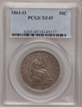 Seated Half Dollars: , 1861-O 50C XF45 PCGS. PCGS Population (21/186). NGC Census:(8/102). Mintage: 2,532,633. Numismedia Wsl. Price for problem ...