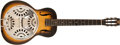 Musical Instruments:Resonator Guitars, Late 1930s Dobro Regal F #25 Sunburst Guitar (no serial number)....
