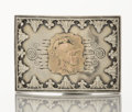Silver & Vertu:Smalls & Jewelry, AN AMERICAN SILVER AND GOLD GENTLEMAN'S BELT BUCKLE. George W. Shiebler & Co., New York, New York, circa 1880. Marks: (winge...