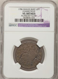 Colonials, 1786 COPPER Connecticut Copper, Mailed Bust Left--PlanchetFlaw--NGC Details. VG. Miller 5.1-H.1, R.6. NGC Census: (1/1...