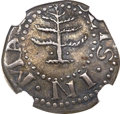 1652 6PENCE Pine Tree Sixpence--Reverse Scratched--NGC Details. VF. Crosby 1-A, Noe-33, W-670, R.3....(PCGS# 22)