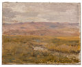Fine Art - Painting, American:Antique  (Pre 1900), CHARLES SPRAGUE PEARCE (American, 1851-1914). Two Landscapes(2). Oil on canvas . 8-1/2 x 11 inches (21.6 x 27.9 cm)... (Total:2 Items)