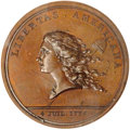 Colonials, (1781) MEDAL Libertas Americana in Copper MS64 Brown PCGS. Betts-615....