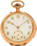 Timepieces:Pocket (pre 1900) , LeCoultre Fancy Dial Gold Quarter Hour Repeater, circa 1890. ...