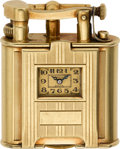 Timepieces:Other , Dunhill Rare Gold Lighter Watch, circa 1930. ...