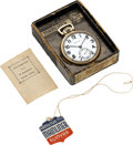 "Timepieces:Pocket (post 1900), Hamilton ""Mainliner"" 950 Elinvar With Original Box, circa 1936. ..."