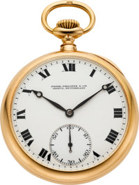 Patek Philippe Gold Pocket Watch, Extra Quality With Guillaume Balance, circa 1915