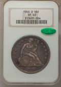 Seated Dollars: , 1846-O $1 XF40 NGC. CAC. NGC Census: (12/110). PCGS Population(30/127). Mintage: 59,000. Numismedia Wsl. Price for problem...