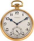 Timepieces:Pocket (post 1900), Tiffany & Co. Gent's Gold Pocket Watch, circa 1905. ...