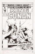 Original Comic Art:Covers, John Buscema King Conan #7 Cover Original Art (Marvel, 1981)....